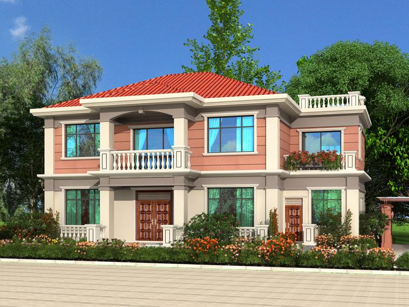 新中式小户型带院 别墅设计图,农村二层自建房屋