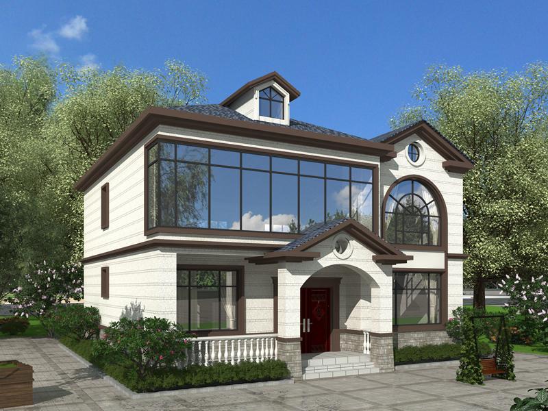 37墙清新田园款二层自建小别墅设计施工全套图纸