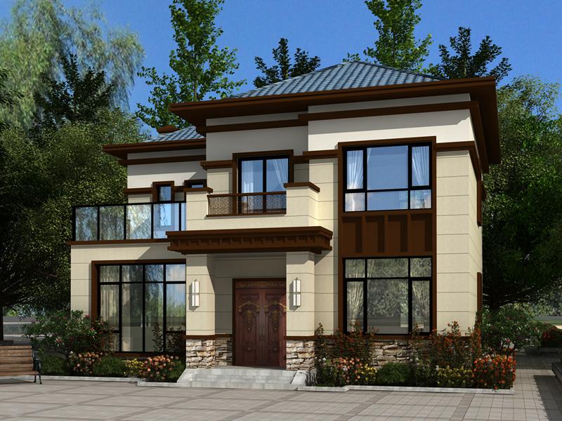 经典二层新中式自建别墅设计施工图纸,最流行的房屋款式