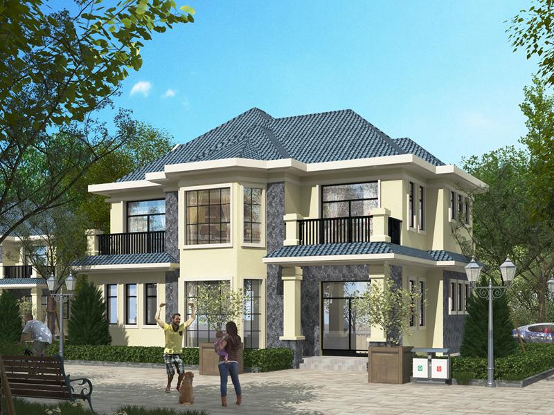 精品二层现代自建别墅设计图,近几年流行的款式