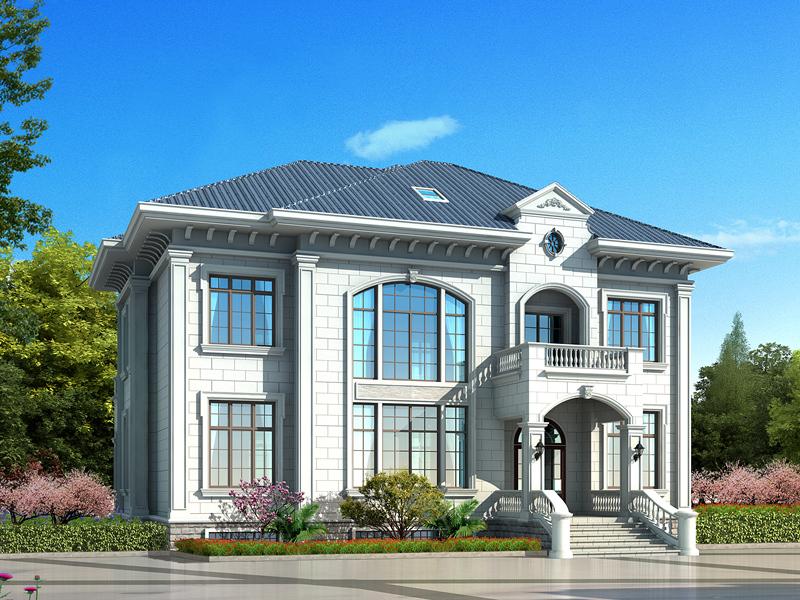 精品二层自建别墅设计图,带有地下室,美观精致
