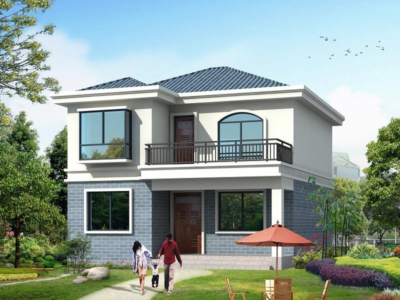一款非常漂亮的小二层自建房屋设计图,造价15万左右,经济实用