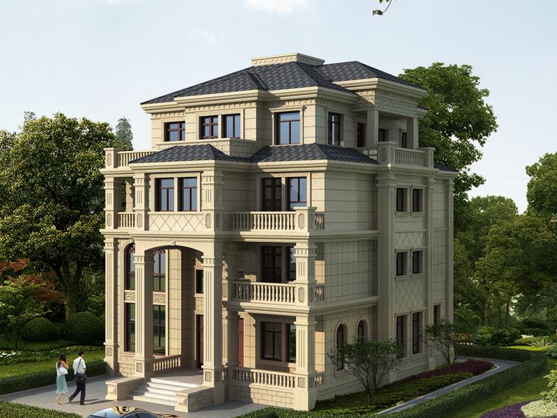 欧式四层自建复式别墅设计图,内设电梯井,布局完善合理