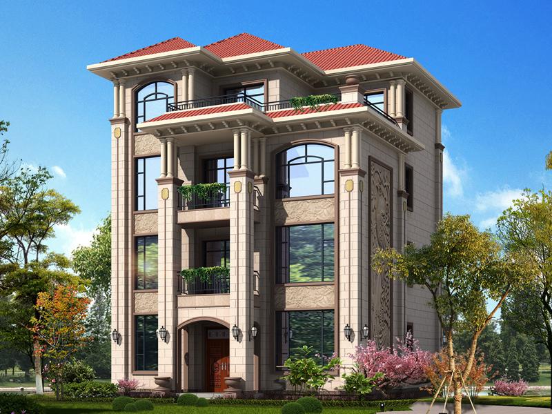 经典四层欧式自建别墅设计施工图,造价50万左右