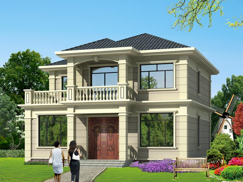 销量超高的一款二层自建房屋设计图,造价30万左右,美观温馨
