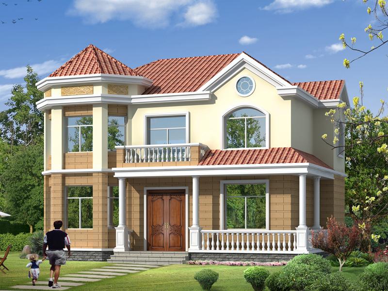 一款造价25万左右的二层复式别墅设计图,非常适合一家人居住