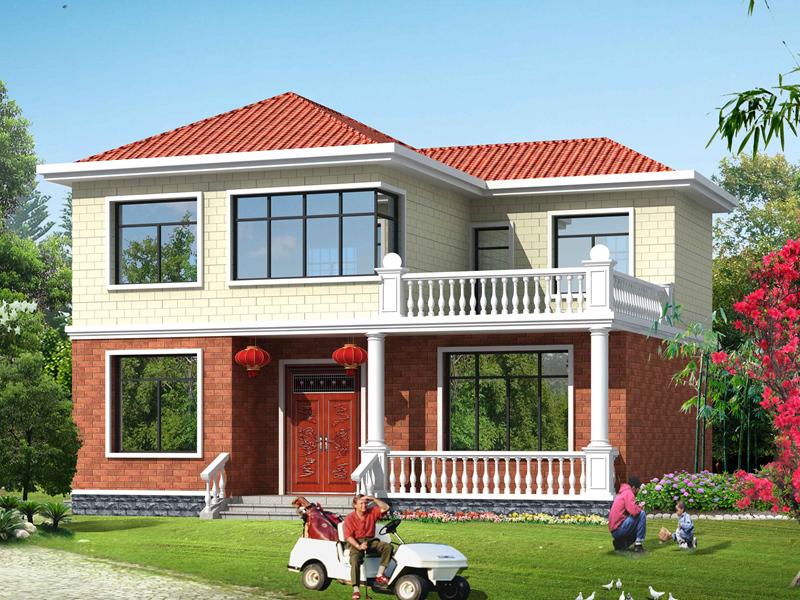 户型非常好的一款二层自建房屋设计图,造价25万左右经济实用
