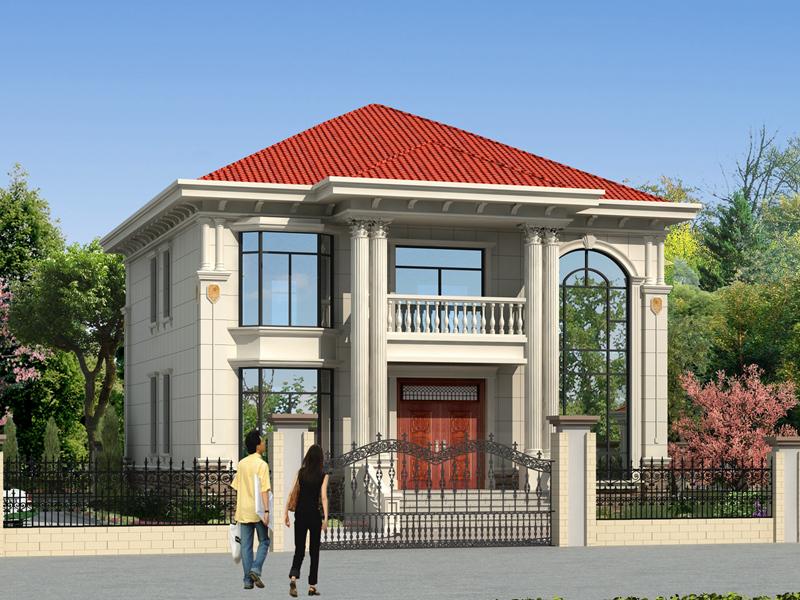 精品二层自建别墅设计图,带有配套庭院设计