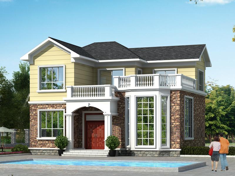 非常体面的一款小户型二层自建别墅,造价合理,经济实用