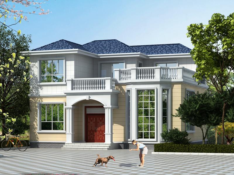 经济实用的小户型二层自建房屋设计图,占地116平方米