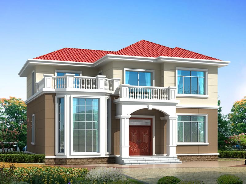 13*11m二层田园小别墅设计图,温馨美观,造价22万左右,含全套完善施工图纸