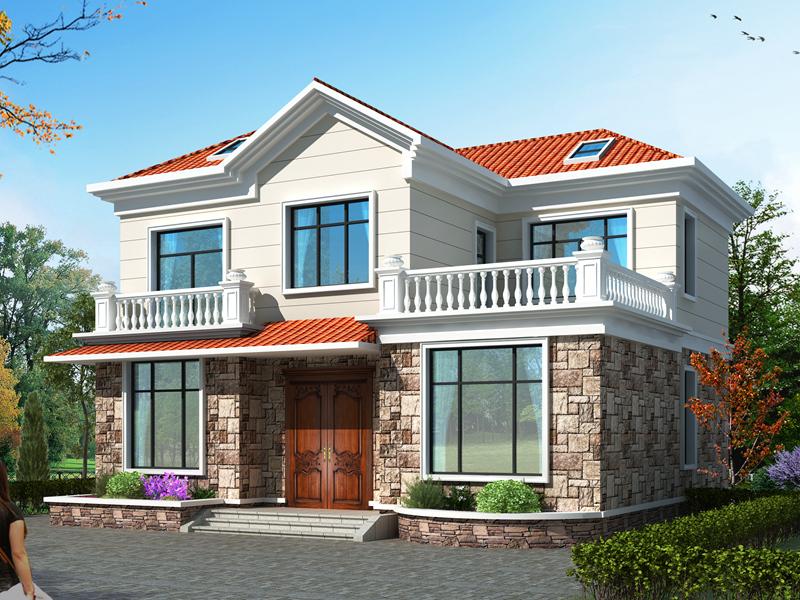 小户型二层田园别墅设计图,造价20万左右,温馨舒适