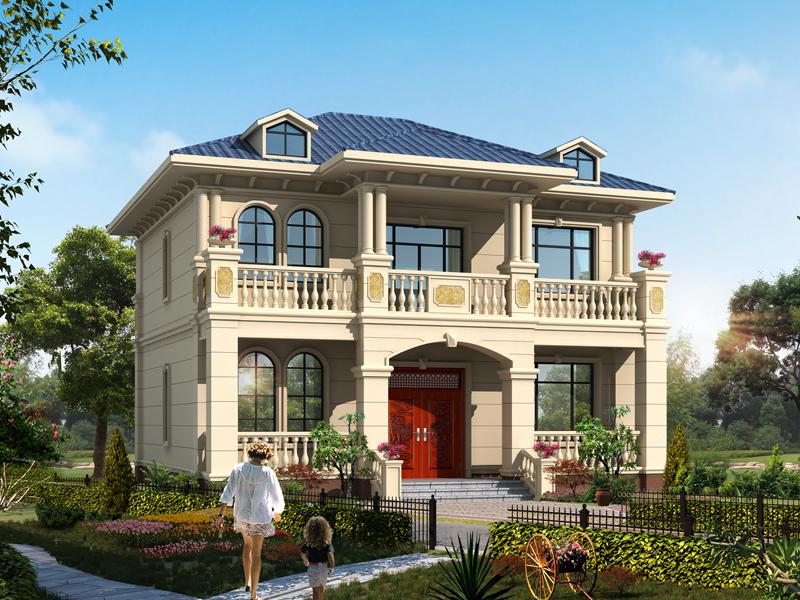 造价20万左右的精致小户型二层自建别墅设计图,含全套完善施工图纸