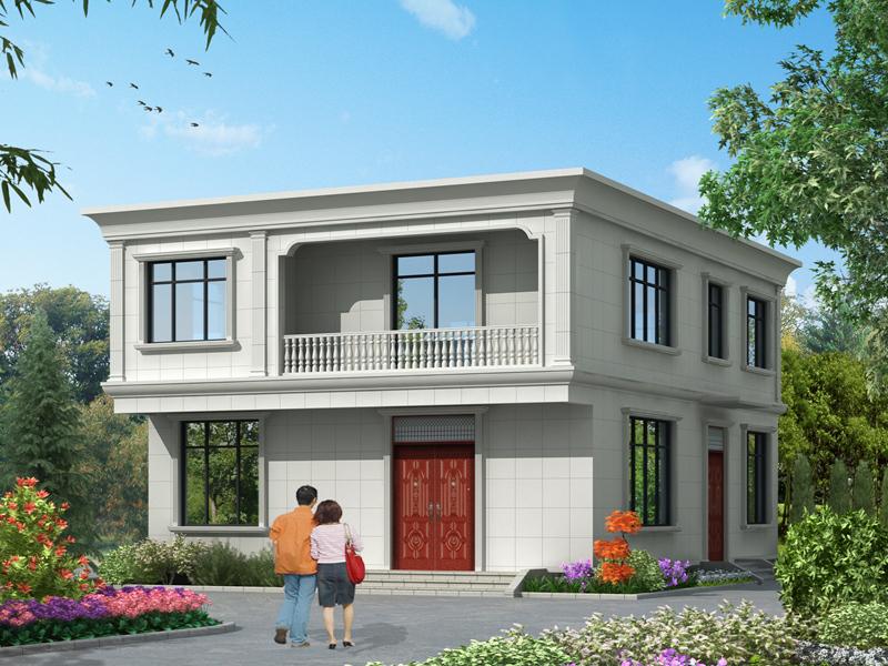 10.7*13.2m二层自建房屋设计图,造价30万左右,经济实用