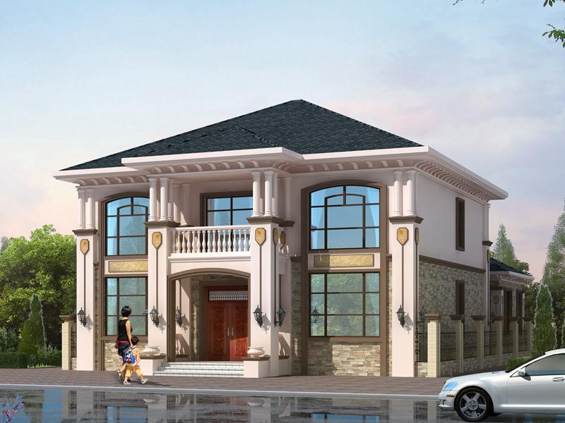 一款很有格调的二层自建别墅设计图,造价40万左右,美观实用