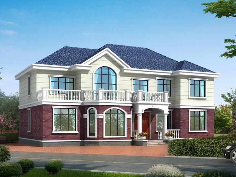 二层田园小别墅设计图,美观精致,布局完善,适合一家人居住