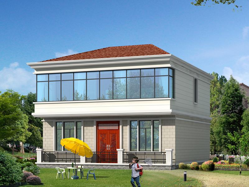 小户型精致二层自建房屋设计图,采光通风良好