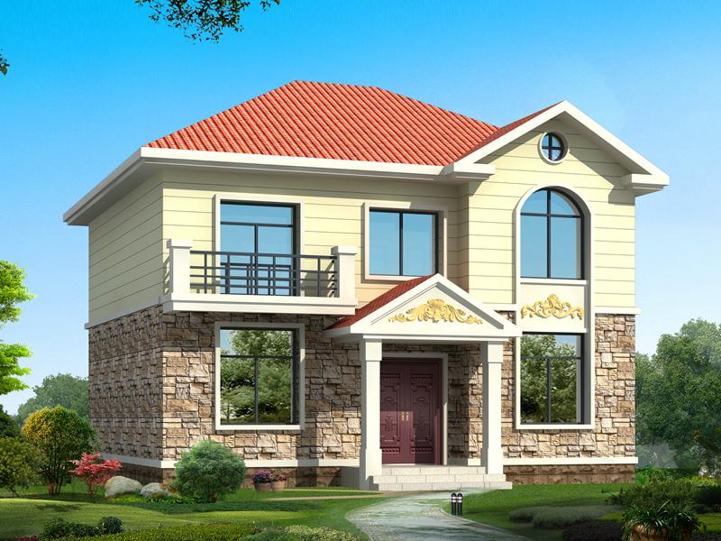 占地110平方米左右的二层经典户型小别墅设计图,经济实用