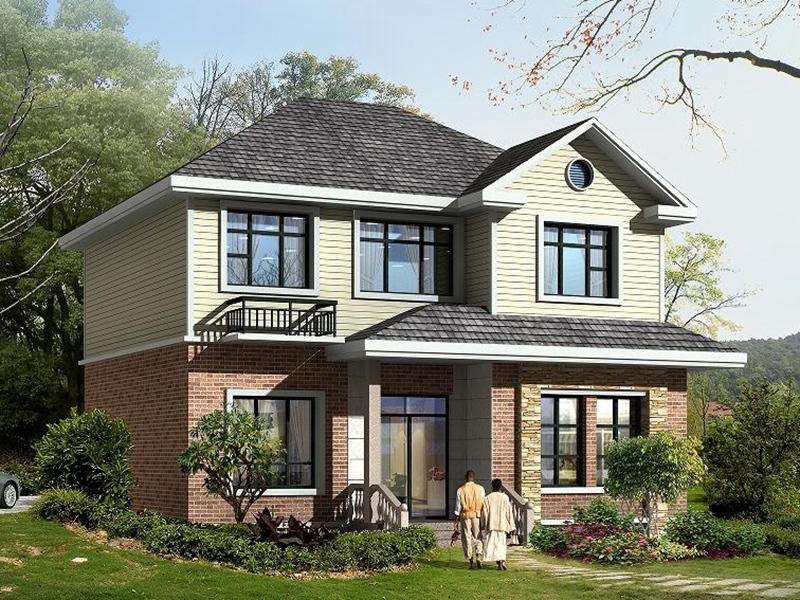 二层自建小别墅设计图,布局完善合理,小户型,经济实用