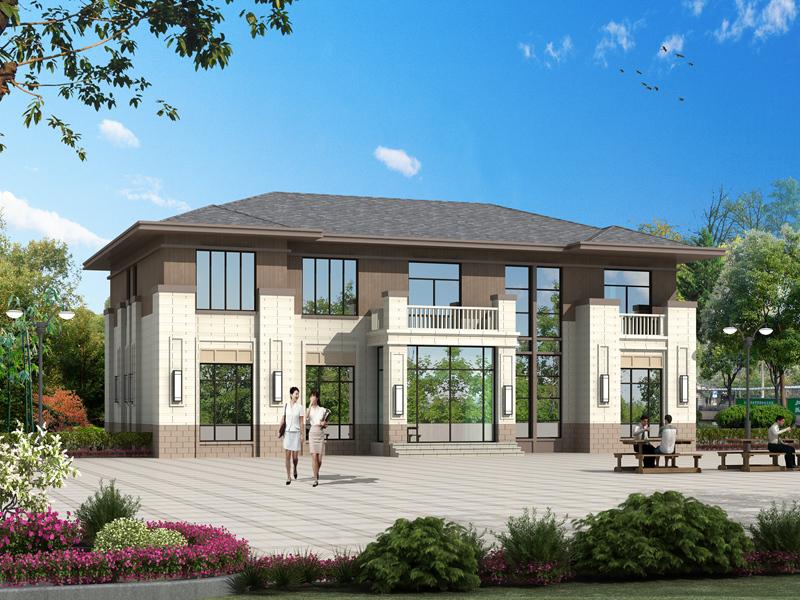 中式二层复式别墅设计图,中高端自建房,占地246㎡