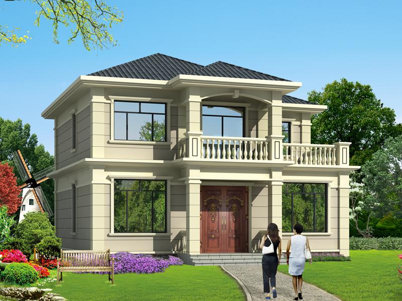 二层精致小别墅,12m*12m,美观时尚,适合一家人居住