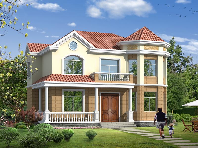 造价25万复式二层简单精致的小别墅设计图,12m*11m经济实用的自建房