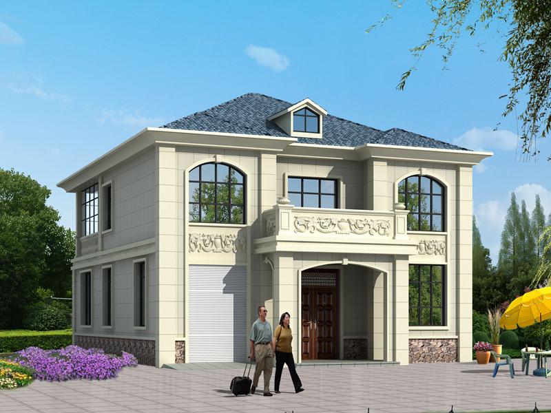 欧式二层别墅设计图带室内车库11.9m*20m,高端大气,款式新颖