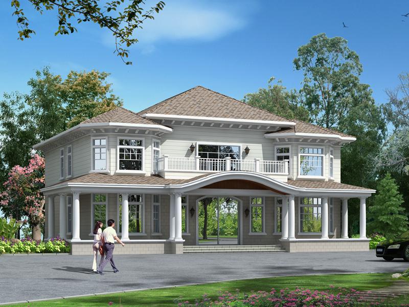 欧式二层别墅设计图,高端大气