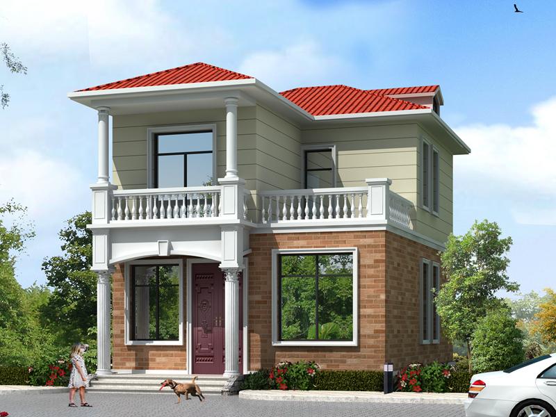7.74m*11.81m小户型二层自建别墅设计图,占地88平方米,小户型首选