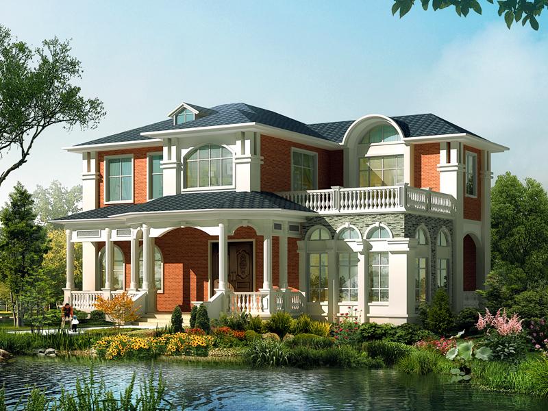 梦幻田园小清新欧式自建二层小别墅,高端自建房屋