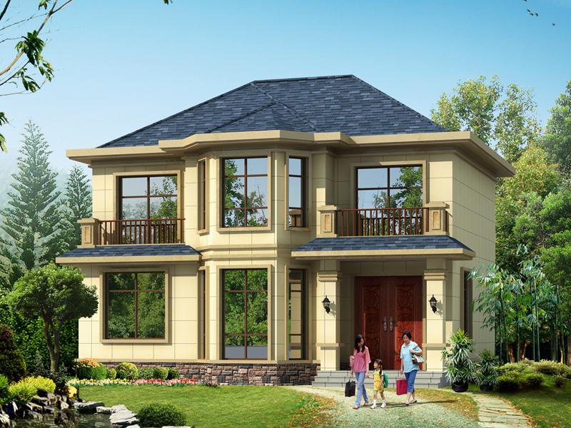 11x10米 乡村别墅设计图——二层别墅设计图