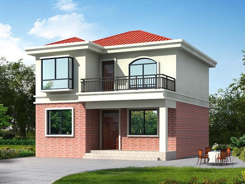 8x9米实用农村小别墅户型_新款农村自建二层房子图纸