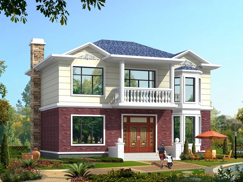 11x8米20万农村小别墅设计图_二层小别墅设计图_农村房屋设计图