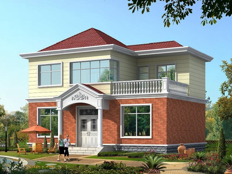 11x10米实用农村小别墅设计图_小房子设计图