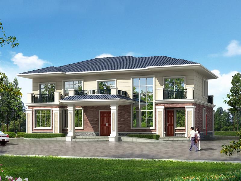 占地262㎡二层中高端自建别墅,含全套施工图纸