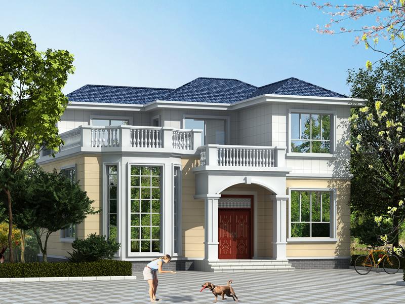 占地116㎡,造价20万二层农村自建别墅设计图,含全套施工图