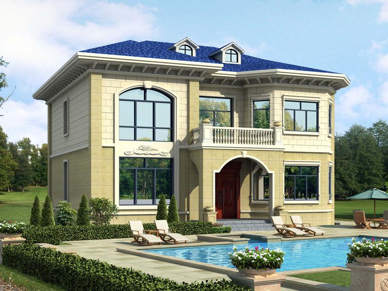 农村二层自建房,13.64*10.84m,占地157平方,二层自建别墅