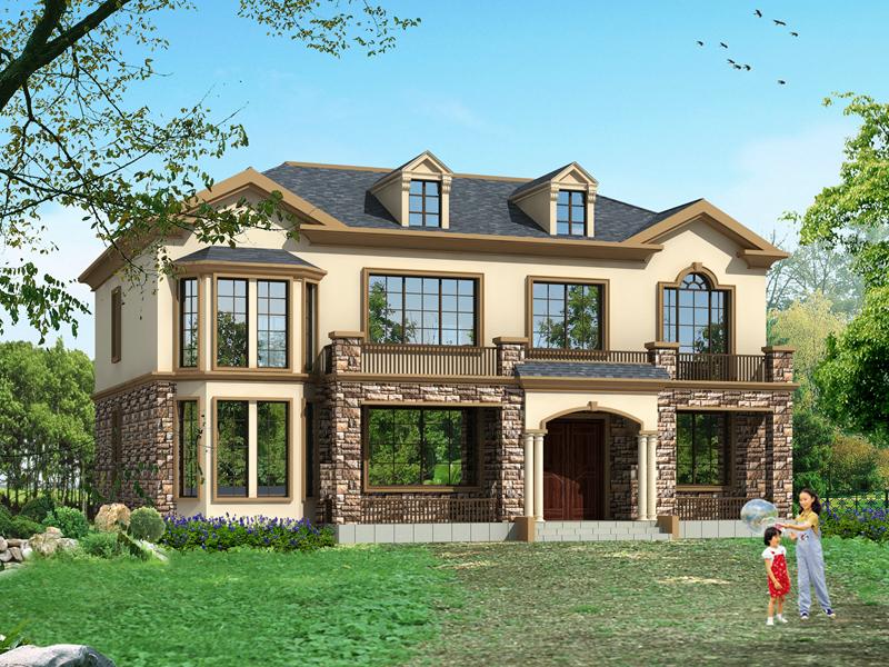 高端二层自建房设计图,内设螺旋状楼梯,占地210平方,二层复式别墅,