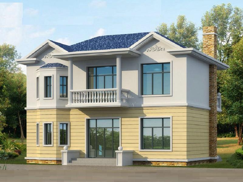 11x9米造价15万左右农村二层小别墅_农村房屋设计图_二层建房设计图_农村房子设计图