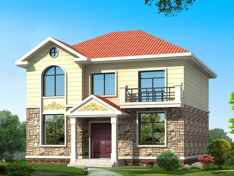 11*10米造价15万左右两层经典户型农村房屋自建施工图纸带效果图