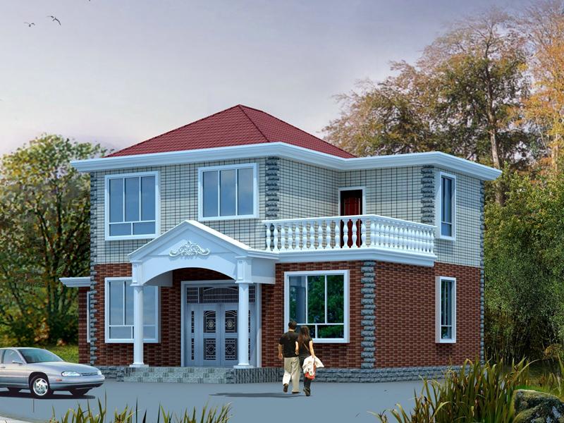 11.14x11.42m新农村造价15万二层小别墅设计图_二层房屋设计图_二层自建房图纸