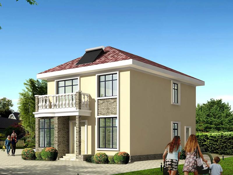 8米x11.6米二层农村自建房施工图纸_新农村获奖设计房屋图纸_造价15万以内农村房屋设计图