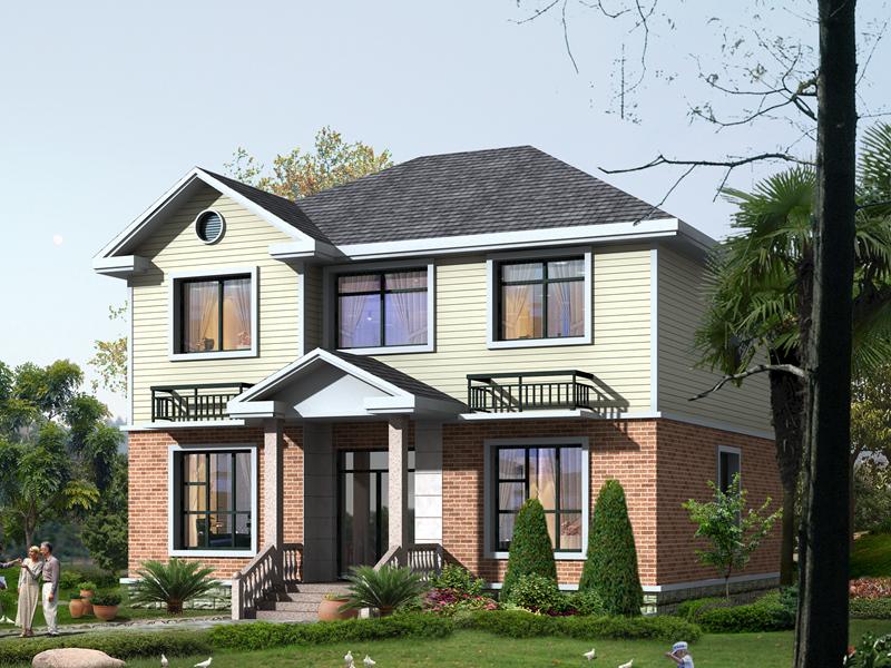 10x10米两层经典户型农村房屋自建施工图纸_实用户型小别墅
