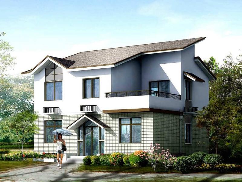 10.2x9米二层小自建房图纸_小型农村建房设计图_农村房屋设计图