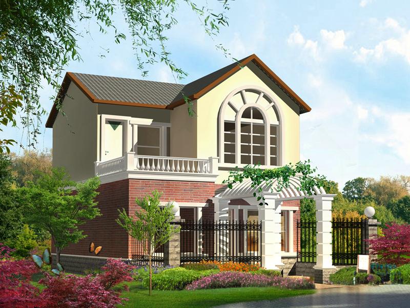 8x11米二层精致小户型自建房施工图_实用美观农村二层小别墅