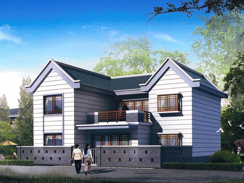 12.1x12.0m二层小别墅图纸_农村二层楼房设计图_适合农村建设的设计图