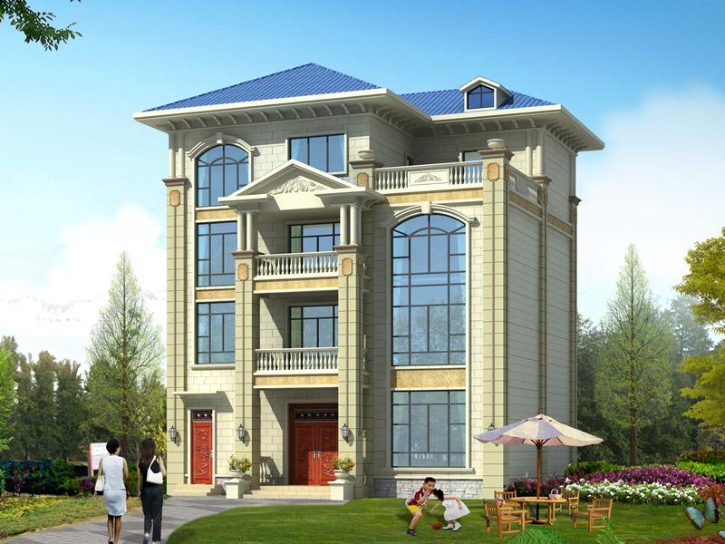 四层自建复试别墅设计图,美观精致,采光良好