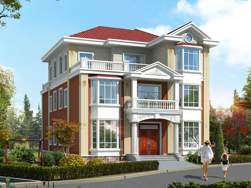 经典双拼自建房屋设计图,单户造价30万左右,一层可做店铺