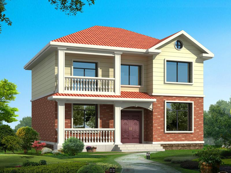 经济实用型二层自建房屋设计图,小面积完美户型