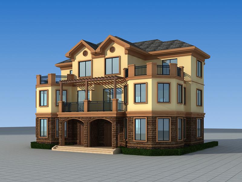 古典复式双拼别墅设计图,经典联排别墅,18*15m,布局完善